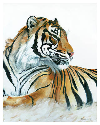 Painting - At Rest, Tiger by Sarah Soward