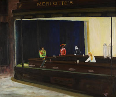 Sookie Stackhouse Painting - At Sam's by David McGhee