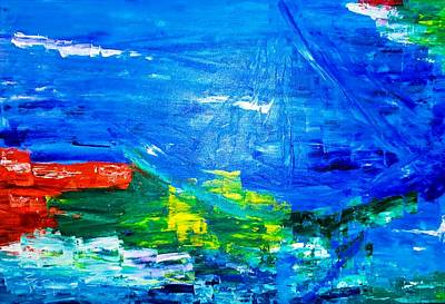 Art Print featuring the painting At Sea by Piety Dsilva