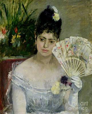 Evening Dress Painting - At The Ball by Berthe Morisot