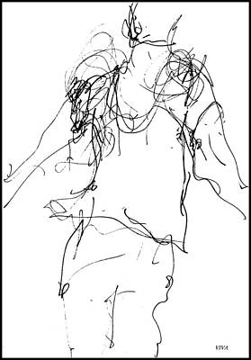 Drawing - At The Ballet - 1 by VIVA Anderson