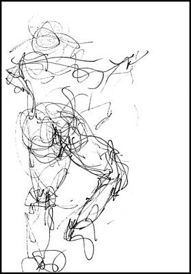 Drawing - At The Ballet - 4 by VIVA Anderson