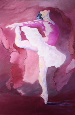 Art Print featuring the painting At The Ballet by Nancy Jolley