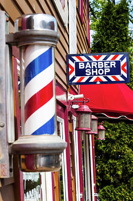Photograph - At The Barber Shop by Karol Livote