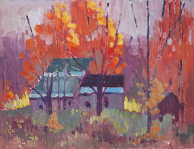 Painting - At The Base Of Mount Greylock by Len Stomski