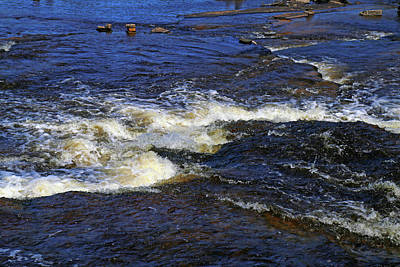 Photograph - At The Base Of Tahquamenon Falls by Mary Bedy