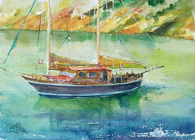 Painting - At The Bay... by Faruk Koksal