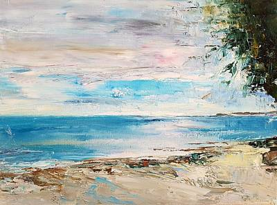 Painting - At The Bay by Kathy  Karas