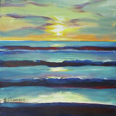 Painting - At The Beach - 002 Of Celebrate Canada 150 by Sheila Diemert
