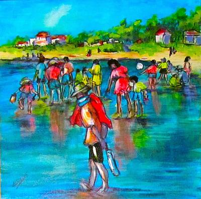 At The Beach Art Print by Barbara O'Toole