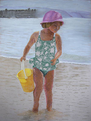 Pastel - At The Beach by Marina Garrison