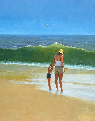 Painting - At The Beach by Mel Greifinger