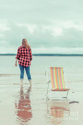 Princes Photograph - At The Beach New London Prince Edward Island by Edward Fielding