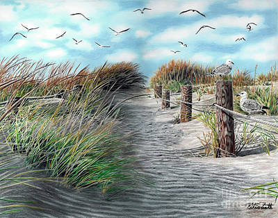 Painting - At The Beach by Peter Piatt