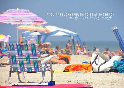 At The Beach Quote Art Print by JAMART Photography