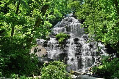 Photograph - At The Bottom Of Issaqueena Falls South Carolina Summertime by Lisa Wooten