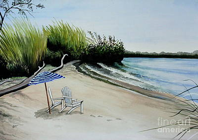 Painting - At The Breezy Beach by Elizabeth Robinette Tyndall