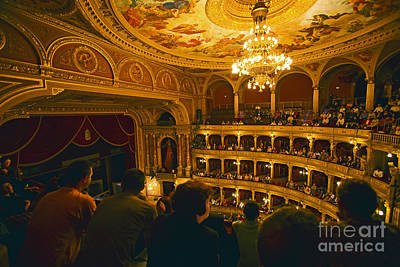 At The Budapest Opera House Art Print by Madeline Ellis