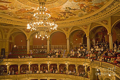At The Budapest Opera Art Print