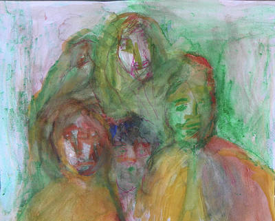 Painting - At The Christmas Party by Judith Redman
