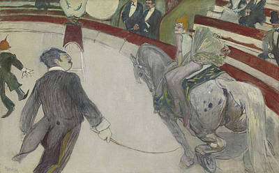 The Horse Painting - At The Cirque Fernando by Henri de Toulouse-Lautrec