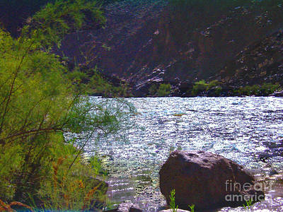 Photograph - At The Colorado River In Arizona by Merton Allen