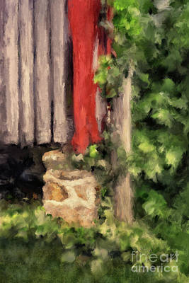 Photograph - At The Corner Of The Barn by Lois Bryan
