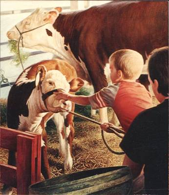 Painting - At The County Fair by Hans Droog