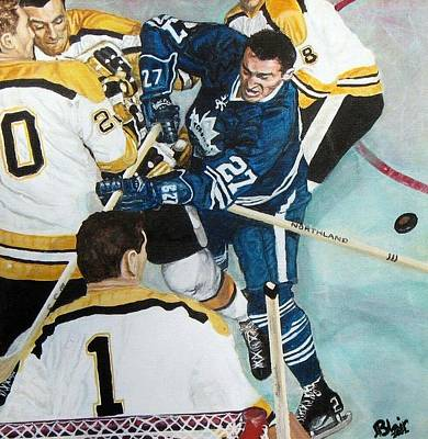 Hockey Painting - At The Crease by Blair  Haynes