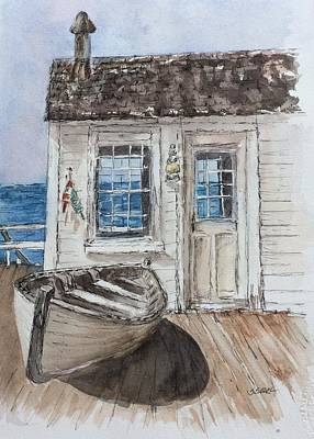 Painting - At The Dock by Stephanie Sodel