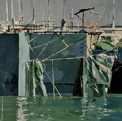 Painting - At The Docks by Andrew Drozdowicz