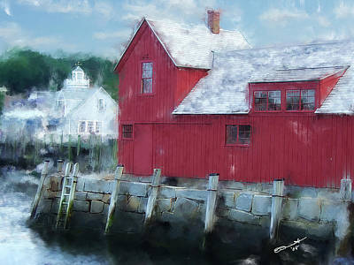 At The Docks Art Print by Eddie Durrett