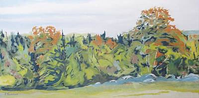 Eastern Townships Painting - At The Edge Of Fall by Francois Fournier