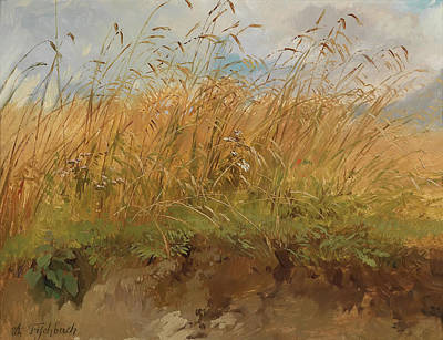 Edge Painting - At The Edge Of The Meadow by Johann Fischbach