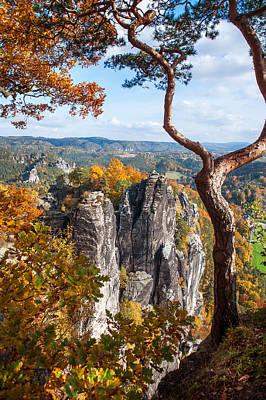Photograph - At The Edge. Saxon Switzerland by Jenny Rainbow