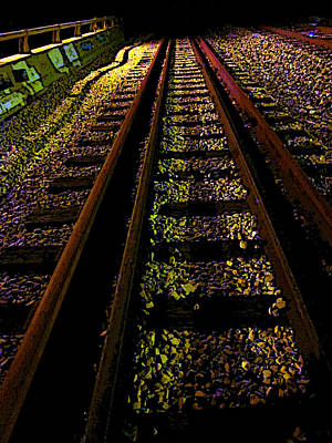 Photograph - At The End Of A Railroad Track by Guy Ricketts