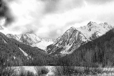 Photograph - At The End Of Castle Creek Road B W by Jemmy Archer