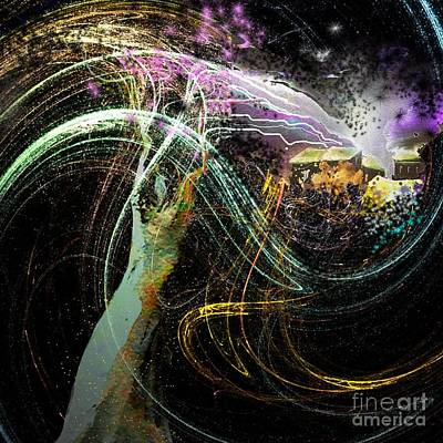 Painting - At The End Of The Cosmos by Miki De Goodaboom