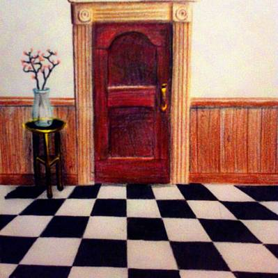 Peaceful Scene Drawing - At The End Of The Hall by Travis  Ragan