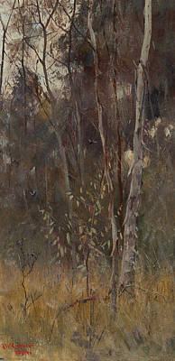Australian Landscape Painting - At The Falling Of The Year by Frederick McCubbin