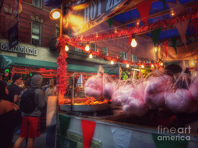 Photograph - At The Feast Of San Gennaro - Cotton Candy by Miriam Danar