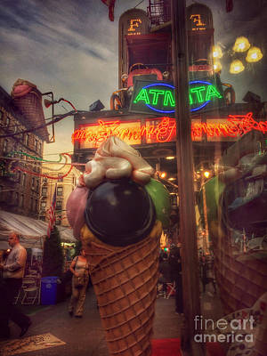 Photograph - At The Feast Of San Gennaro - Dusk by Miriam Danar