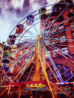 Photograph - At The Feast Of San Gennaro - Ferris Wheel by Miriam Danar