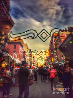 Photograph - At The Feast Of San Gennaro - New York by Miriam Danar