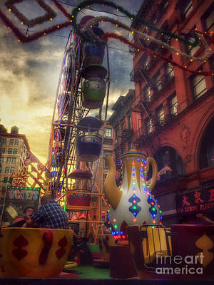 Photograph - At The Feast Of San Gennaro - Rides Of Wonder by Miriam Danar