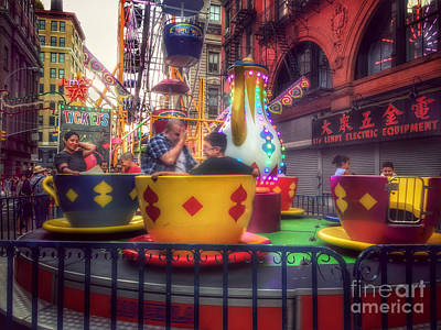 Photograph - At The Feast Of San Gennaro - Teacups A-whirl by Miriam Danar