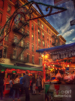 Photograph - At The Feast Of San Gennaro - Zeppoles by Miriam Danar