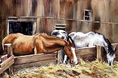Painting - At The Feed Bank by Connie Williams