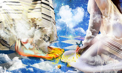 Digital Art - At The Feet Of Jesus by Dolores Develde