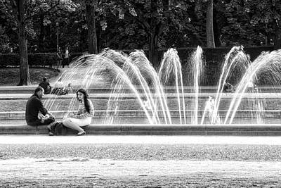 At The Fountain Art Print